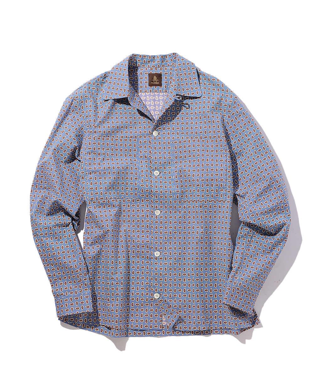 小紋ペイズリープリントシャツ