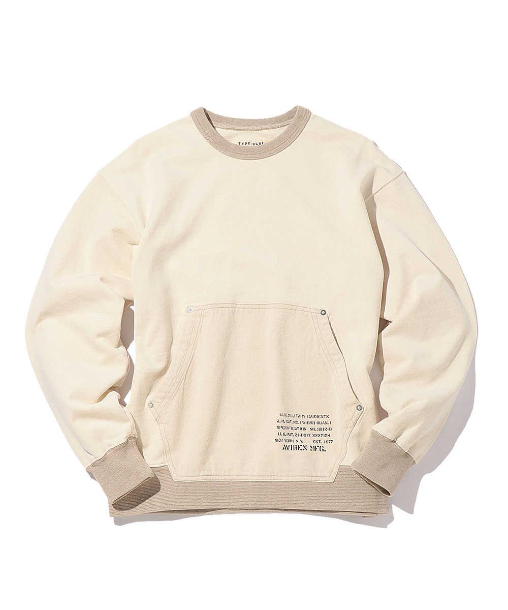 デニムポケットスウェットシャツ