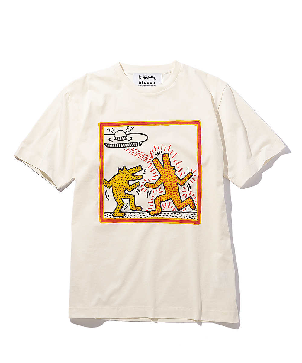 エチュード×キース・ヘリング プリントクルーネックTシャツ