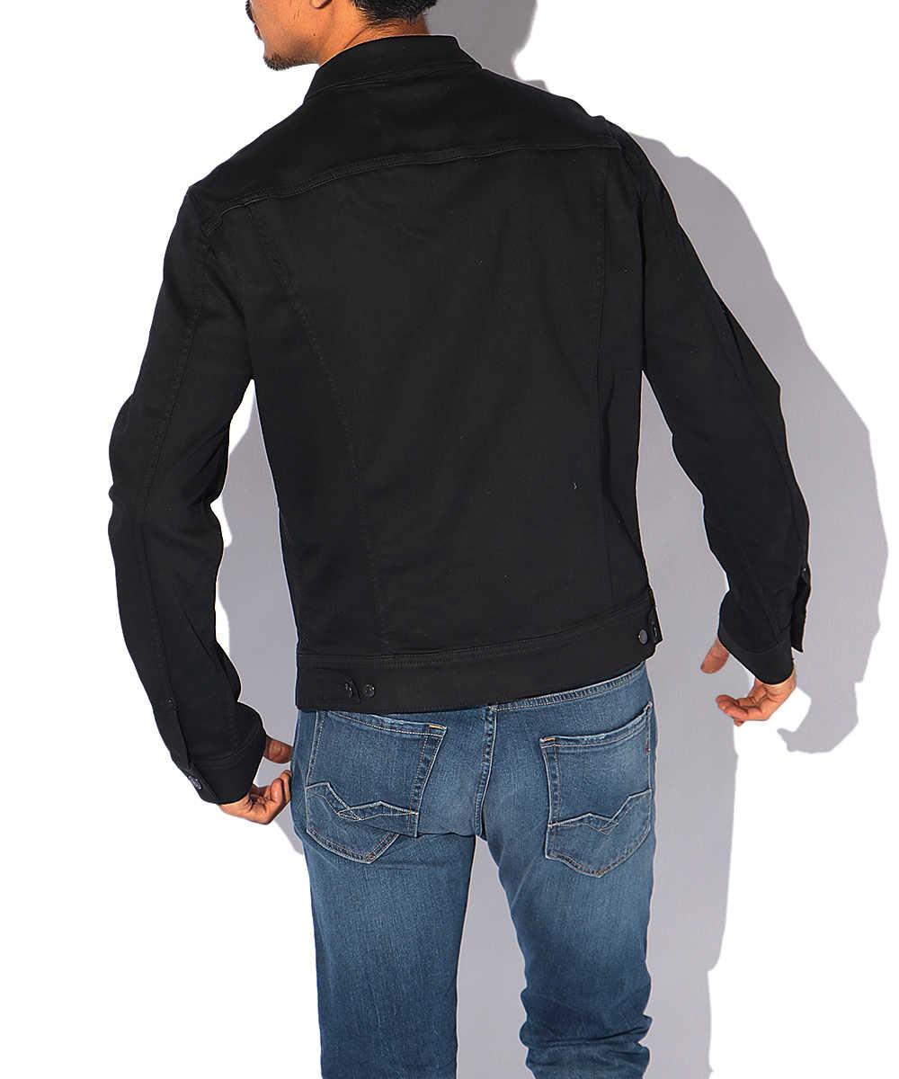 ブラックストレッチデニムジャケット