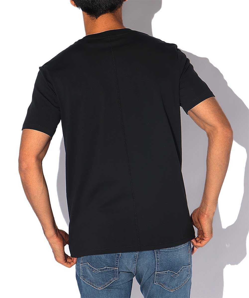 ワンポイントコットンクルーネックTシャツ