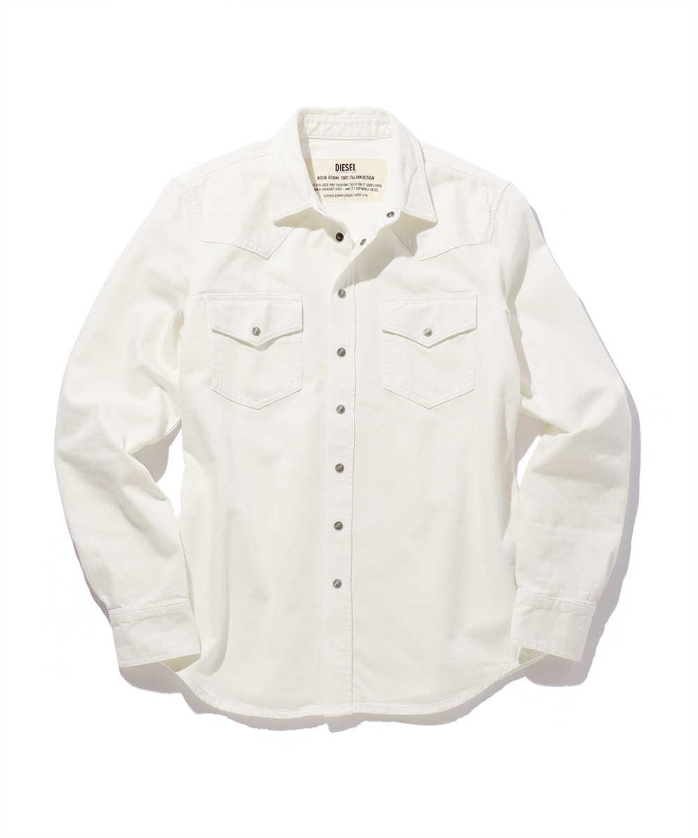 ホワイトデニムウェスタンシャツ