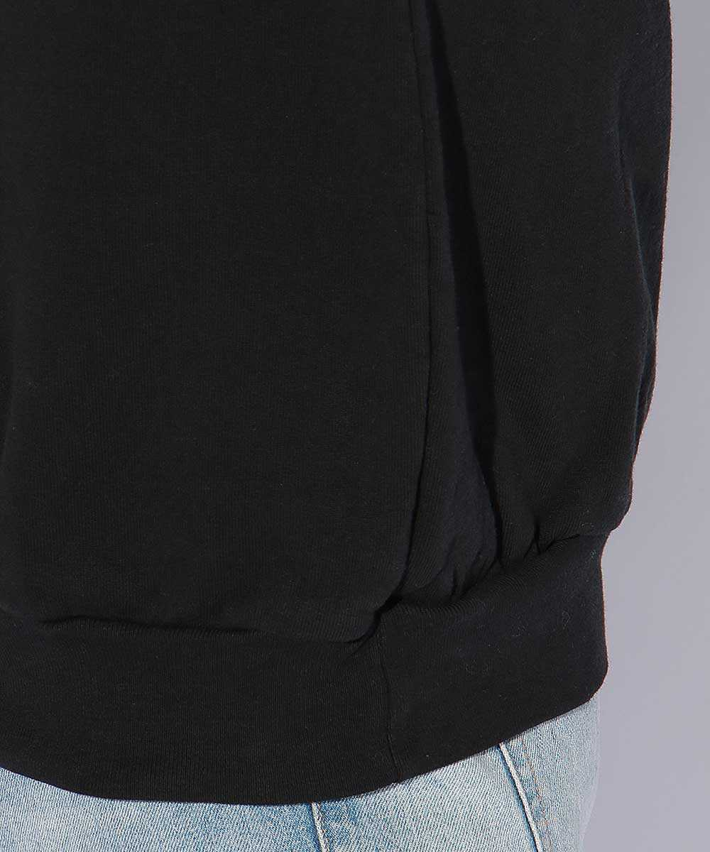 製品染めプリントスウェットシャツ