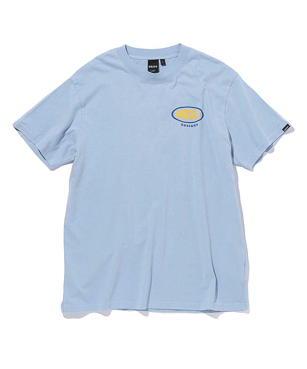 オリジナルプリントロゴクルーネックTシャツ