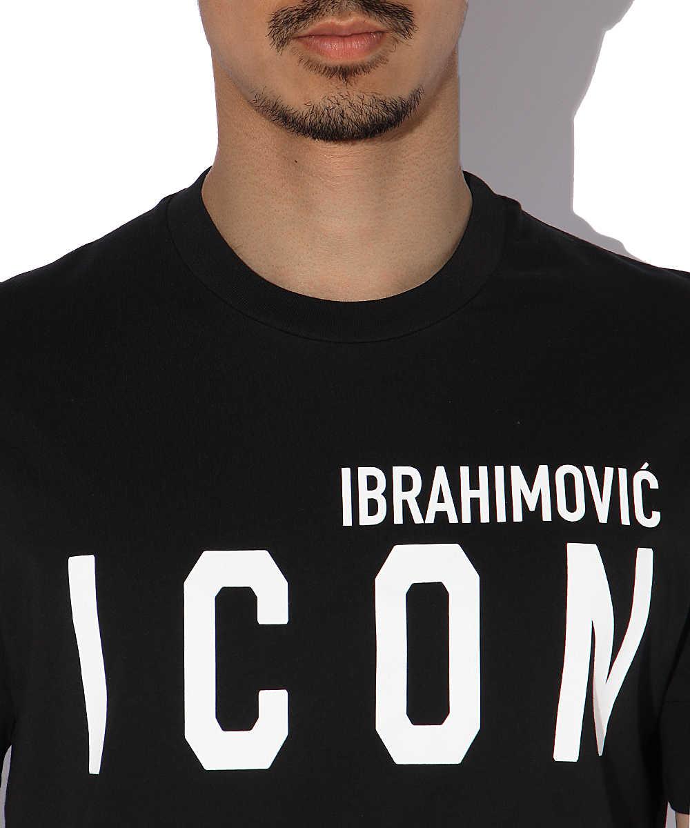 ディースクエアード×イブラヒモヴィッチ アイコンクルーネックTシャツ