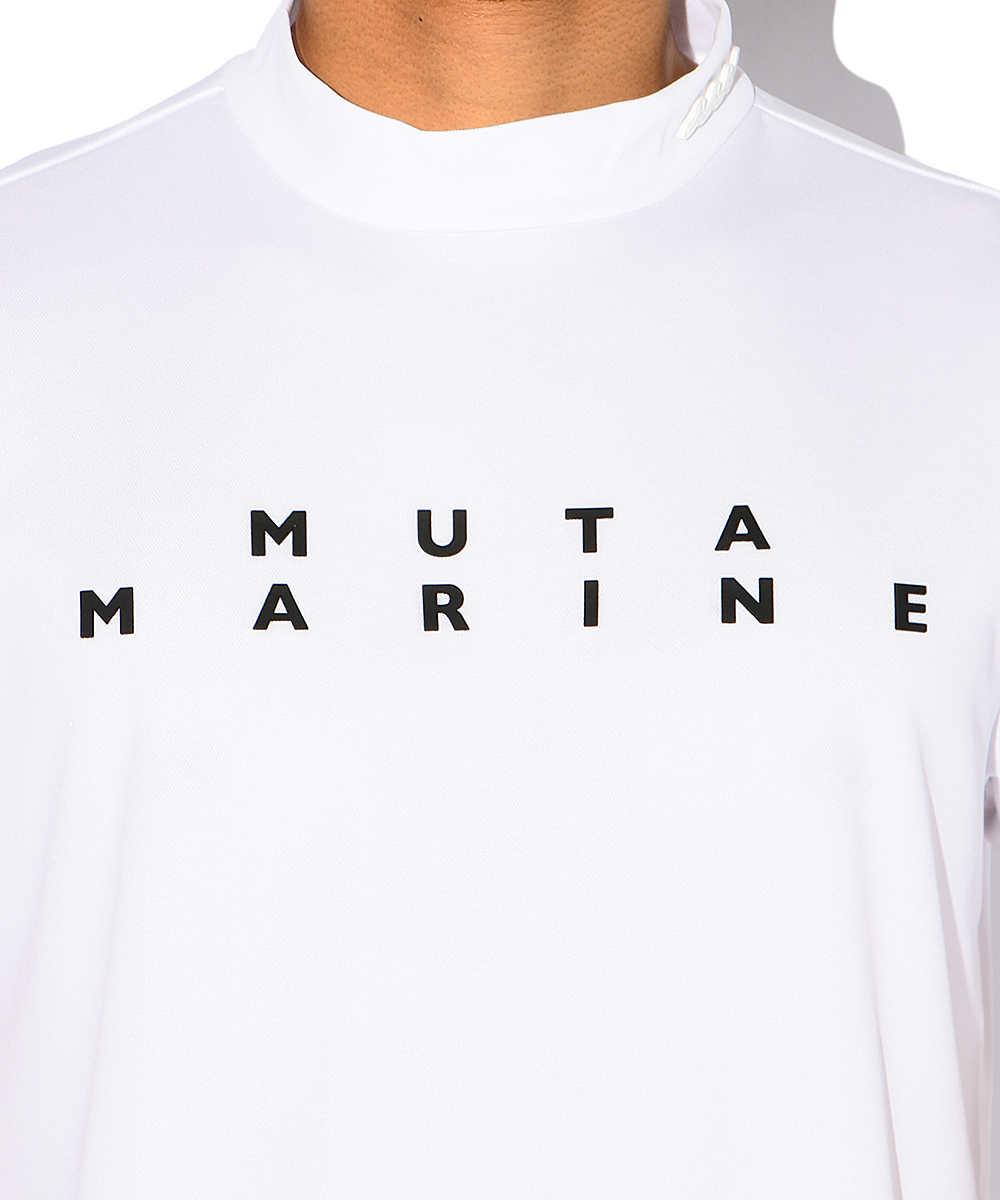 ワンポイントロゴモックネックTシャツ