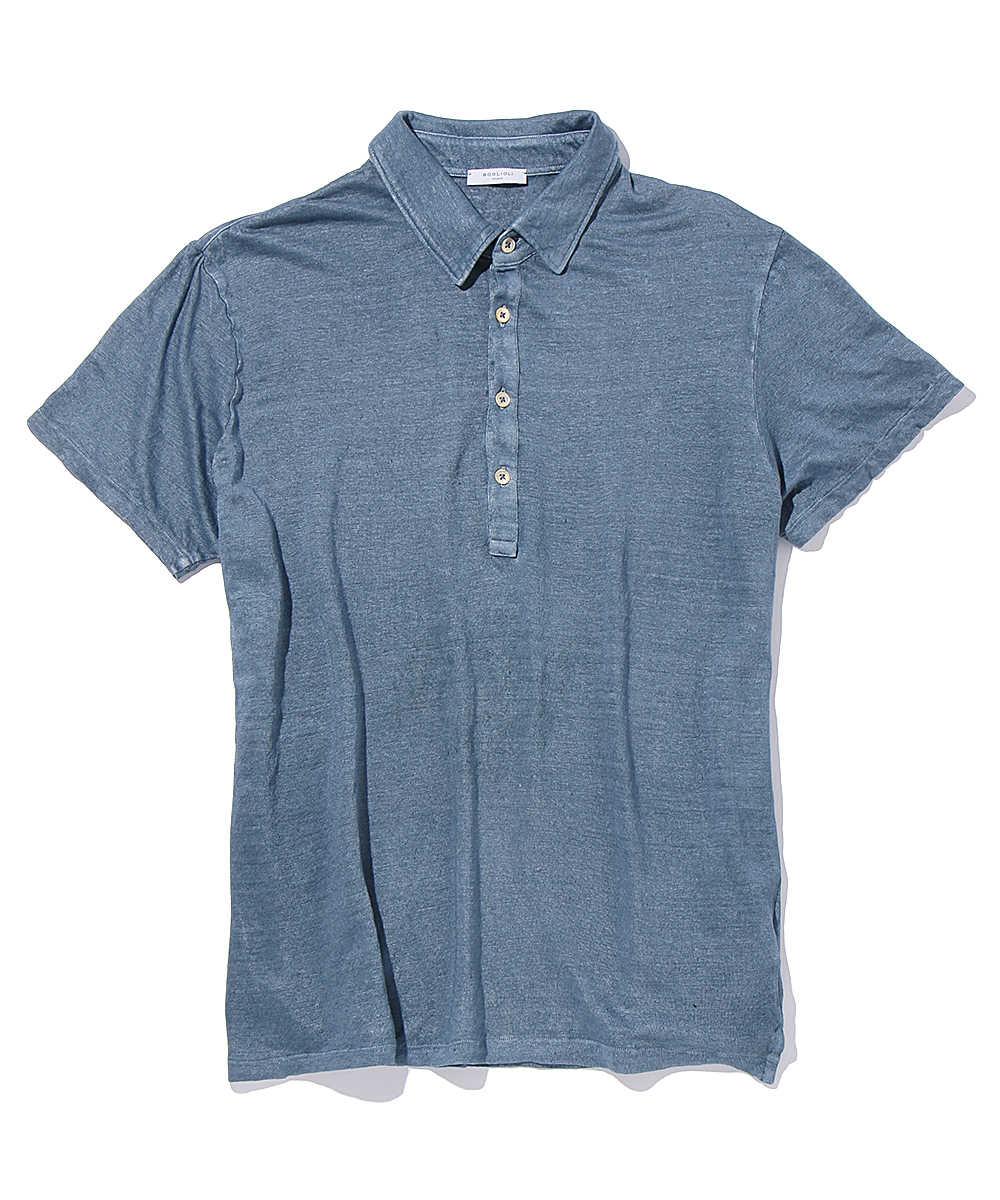 リネンポロシャツ