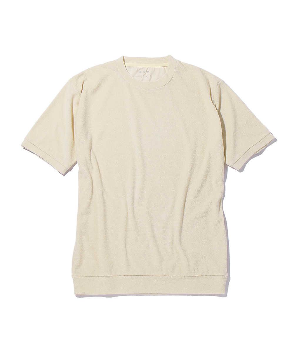 メッシュパイルクルーネックTシャツ