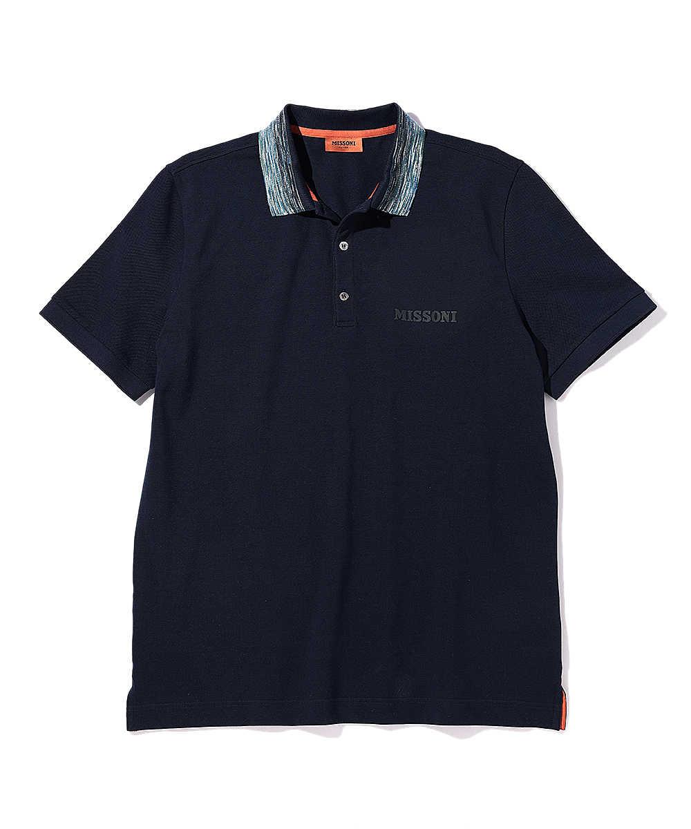 ロゴ刺繡ポロシャツ