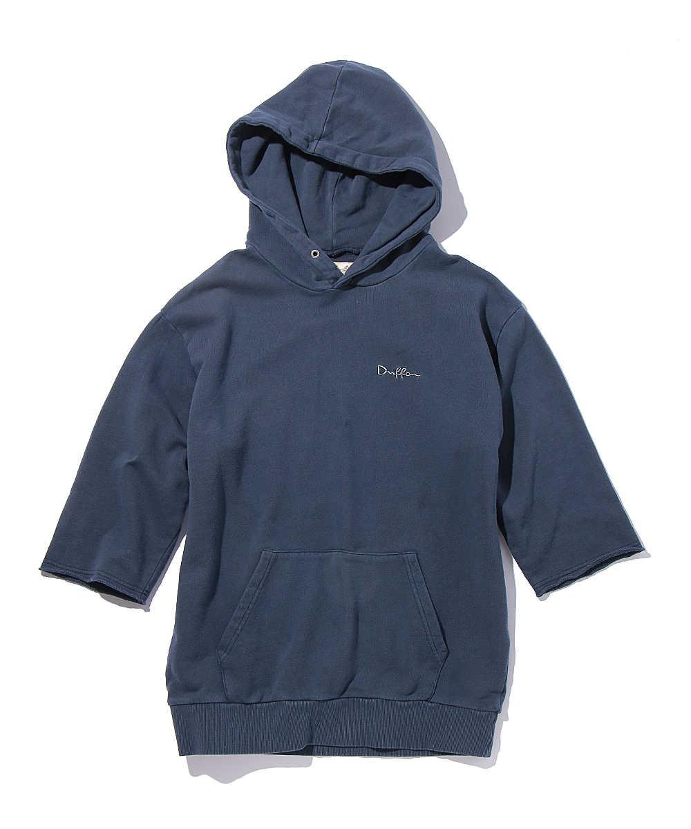 カットオフ5分袖プルオーバーパーカ