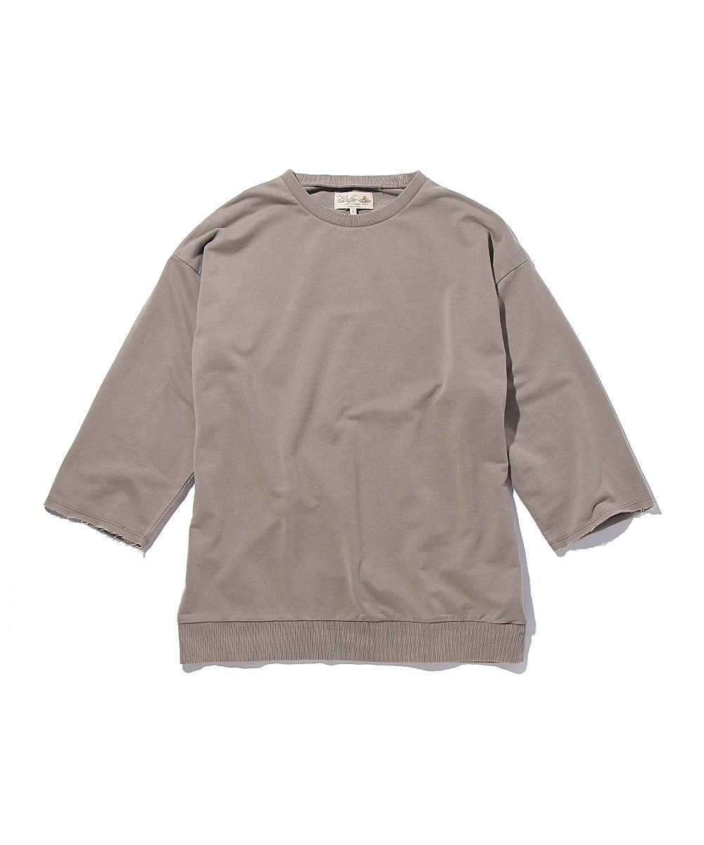 カットオフ7分袖スウェットシャツ