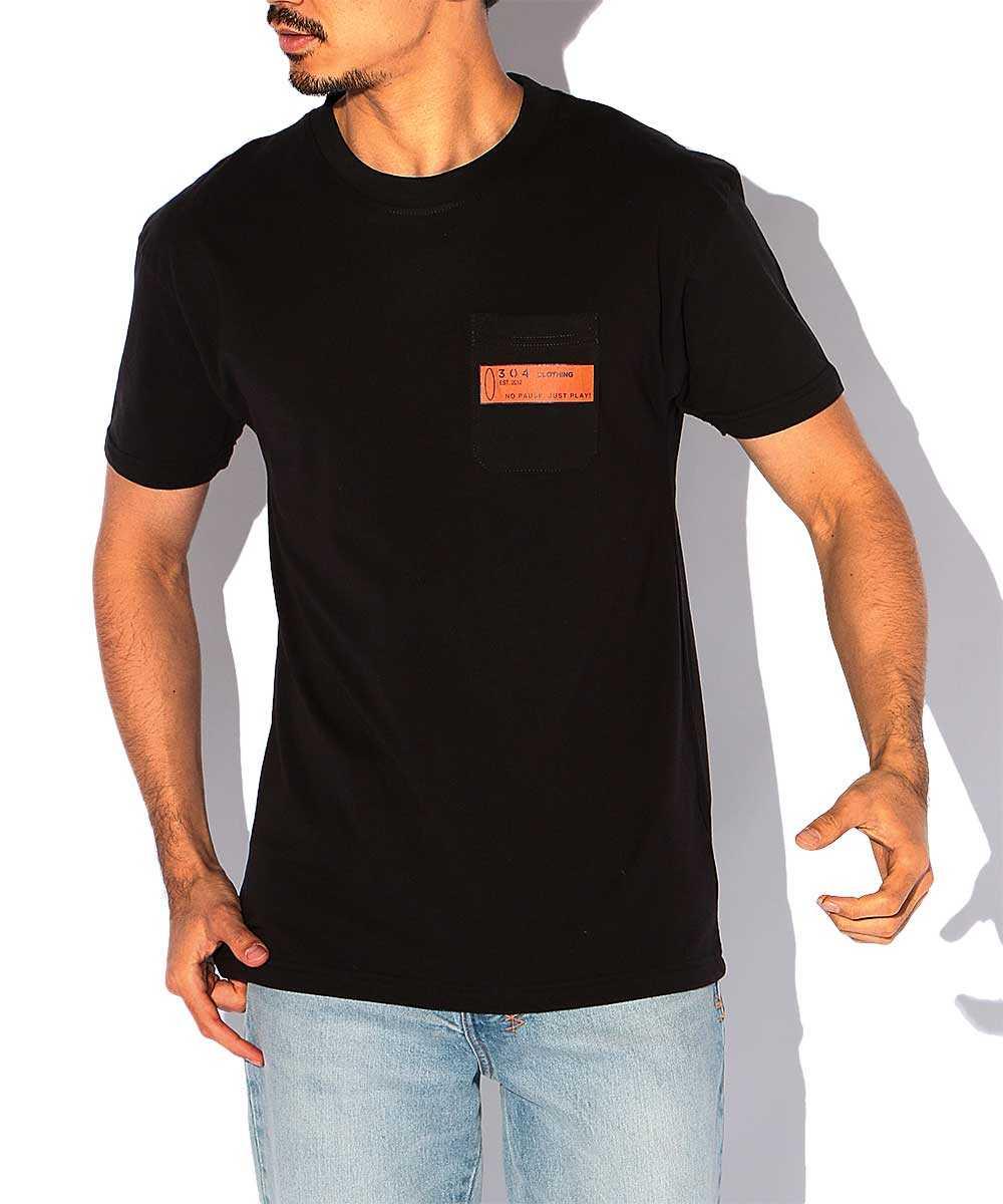 ルーズフィットクルーネックポケットTシャツ