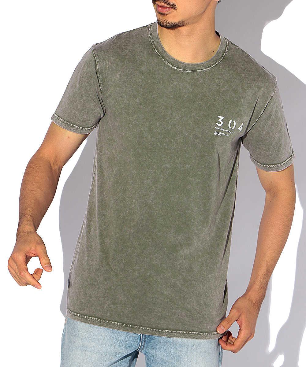 ウォッシュドカラークルーネックTシャツ