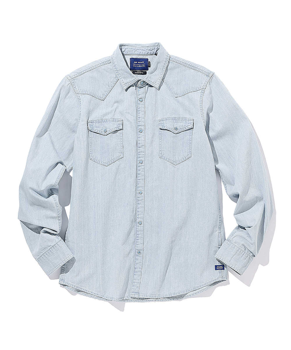 オーガニックコットンウエスタンシャツ
