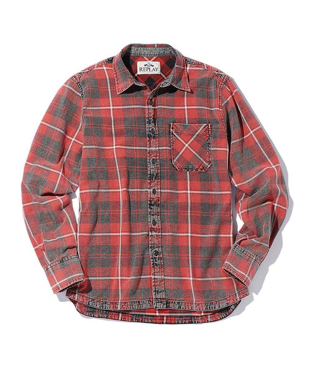 ヴィンテージフランネルチェックシャツ