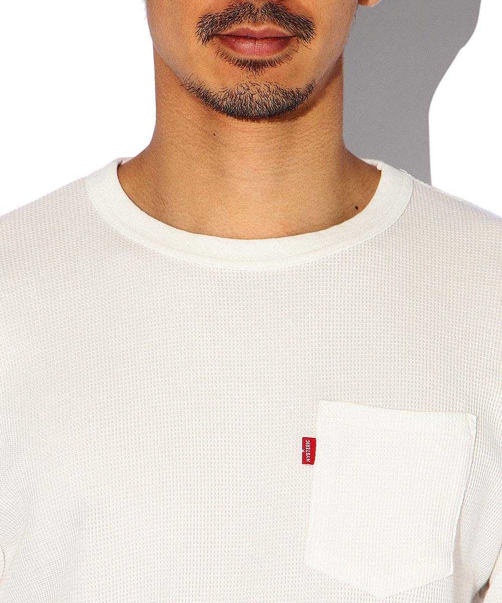 2パック ワッフルポケットクルーネックTシャツ