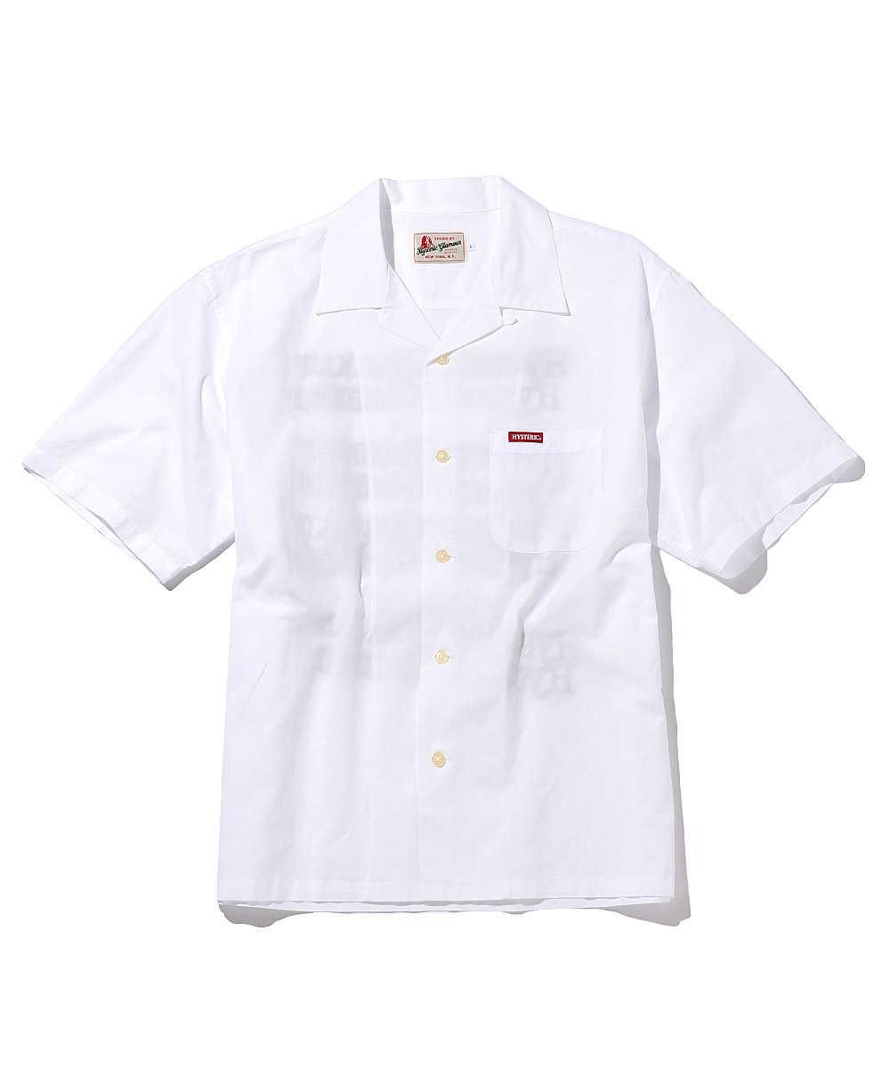 タイプロゴオープンカラーシャツ