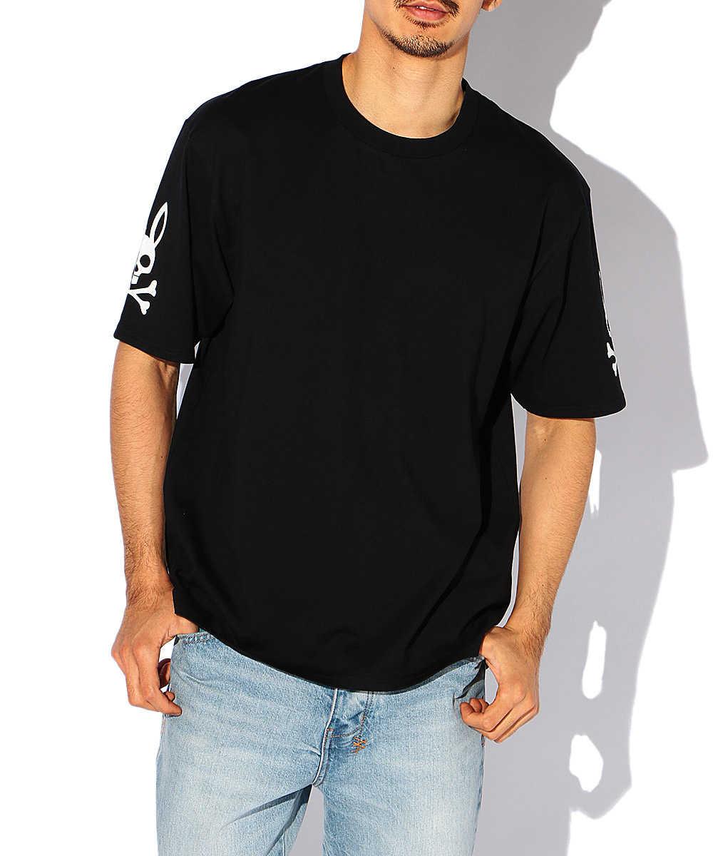 ハーフスリーブロゴクルーネックTシャツ