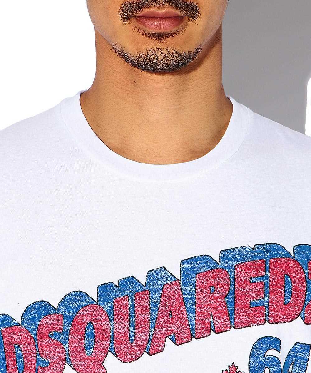 フロントロゴクルーネックTシャツ