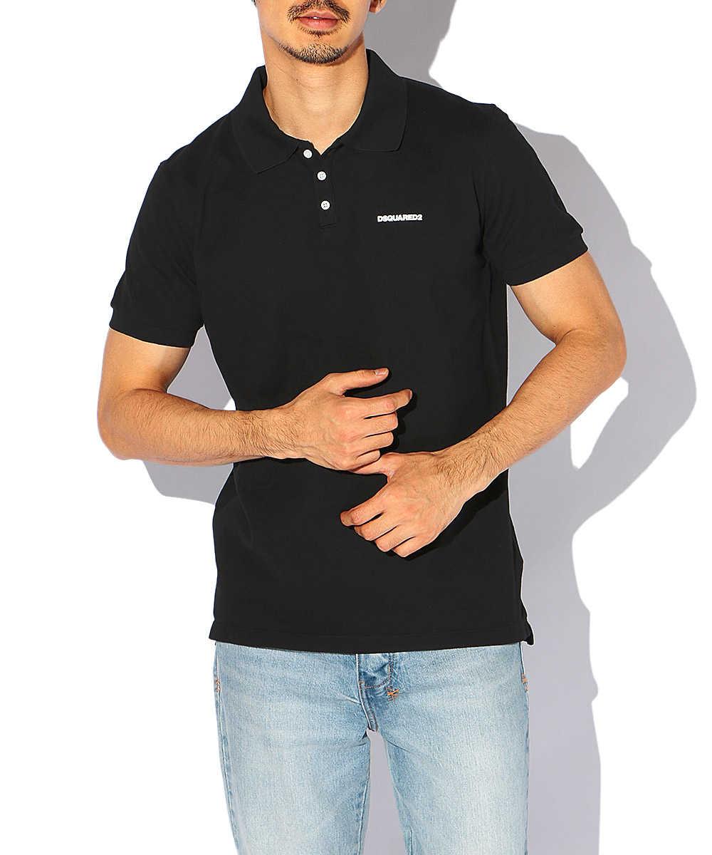 コットンワンポイントロゴポロシャツ
