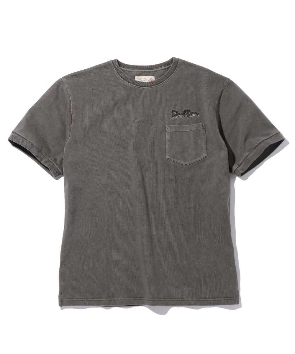 ヘビーコットンピグメントクルーネックTシャツ