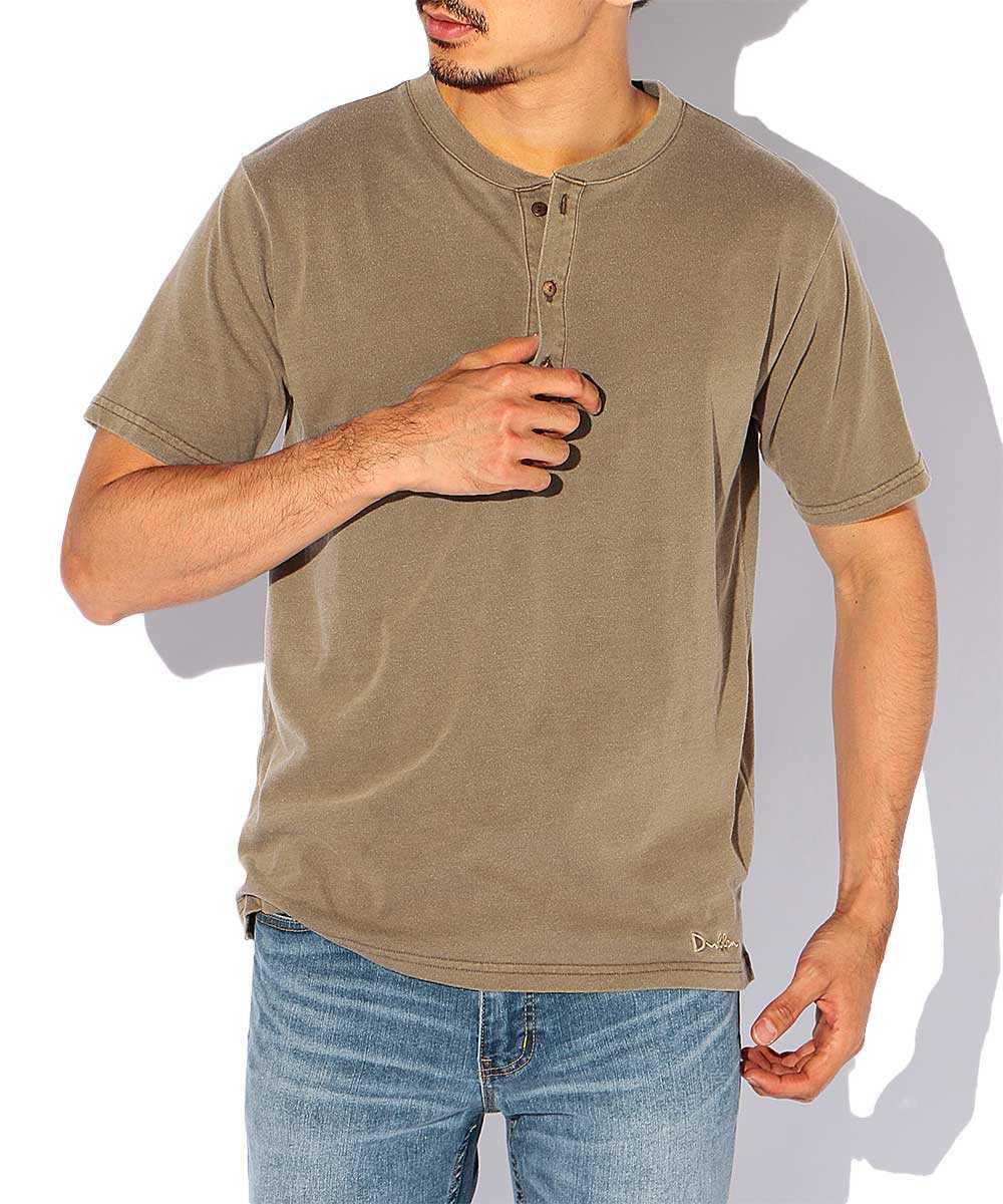 【別注・先行商品】ピグメントヘンリーネックTシャツ