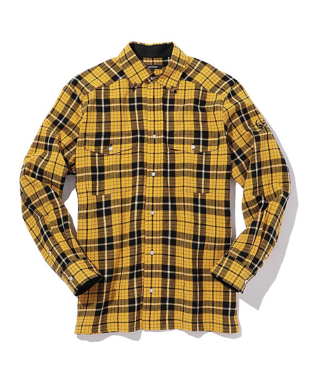 【別注商品】アームスカルチェックシャツ