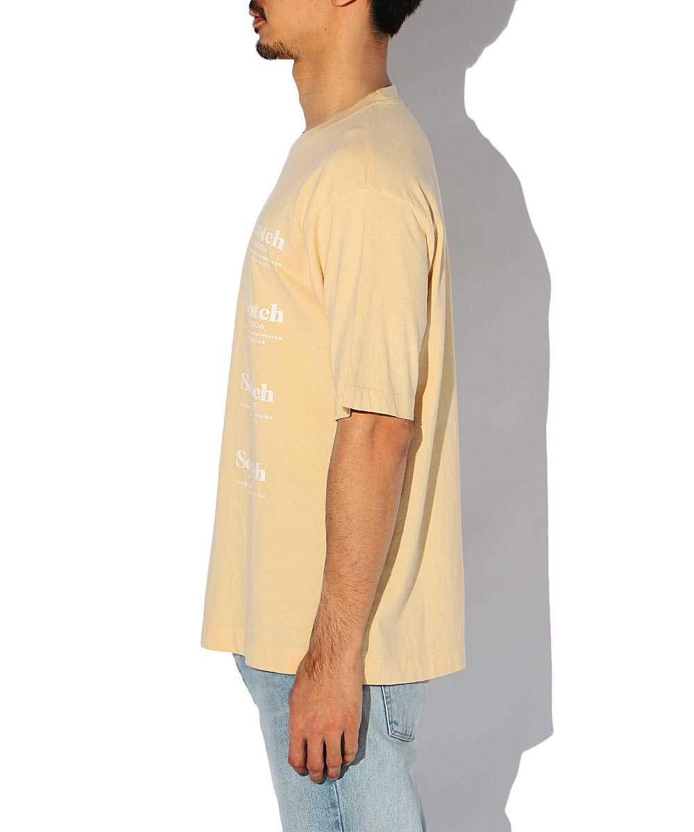 リラックスロゴプリントクルーネックTシャツ