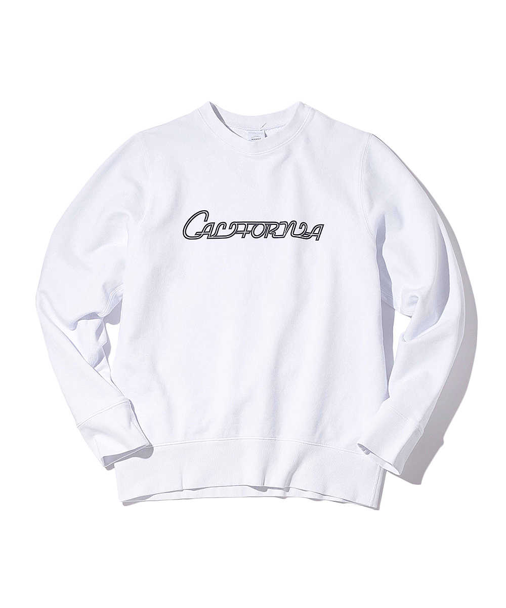 """【限定商品】""""カリフォルニア""""コットンスウェットシャツ"""