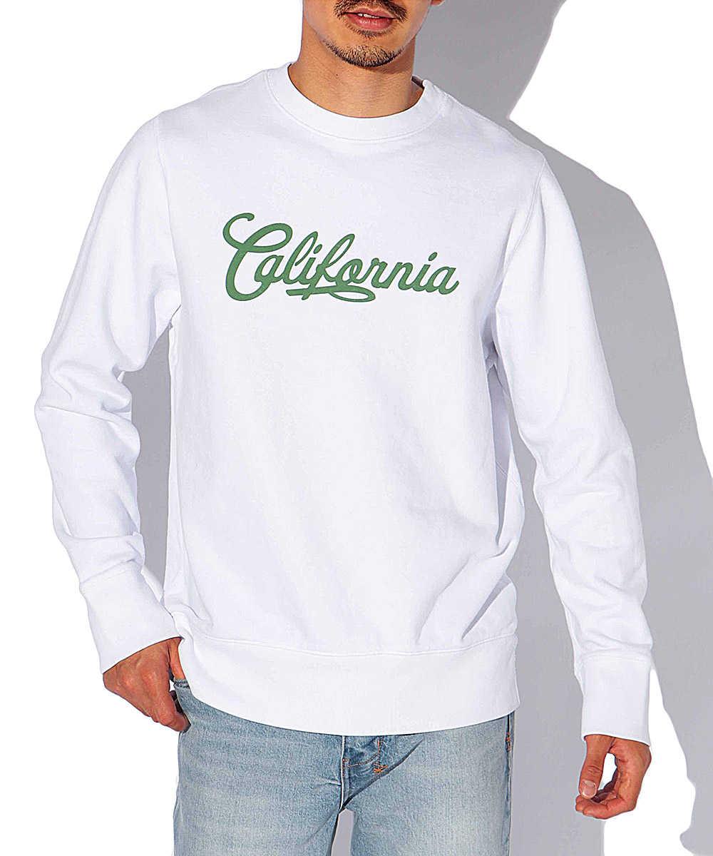 """【限定商品】""""カリフォルニア""""ロゴスウェットシャツ"""