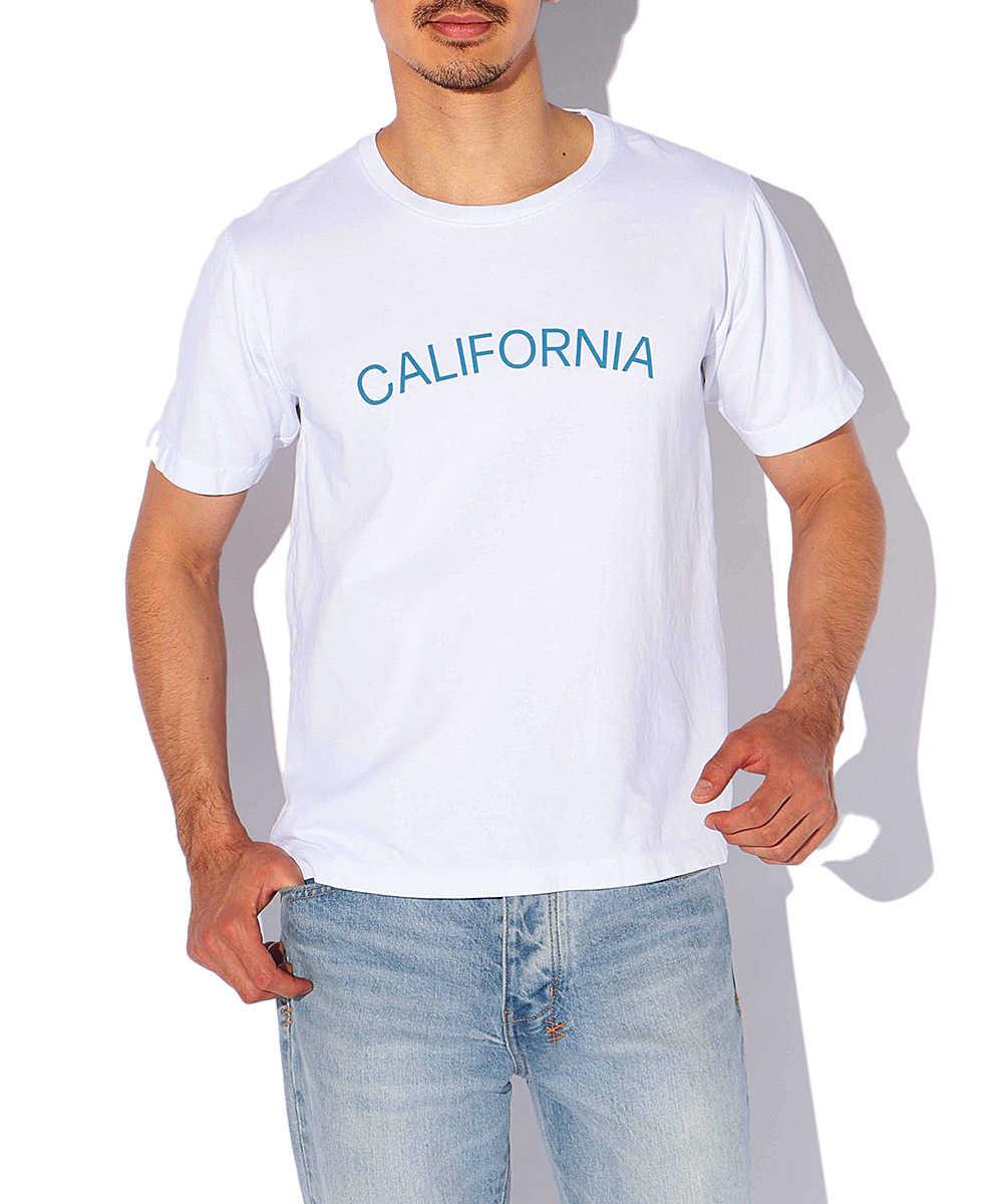 """【限定商品】""""カリフォルニア""""ロゴプリントクルーネックTシャツ"""