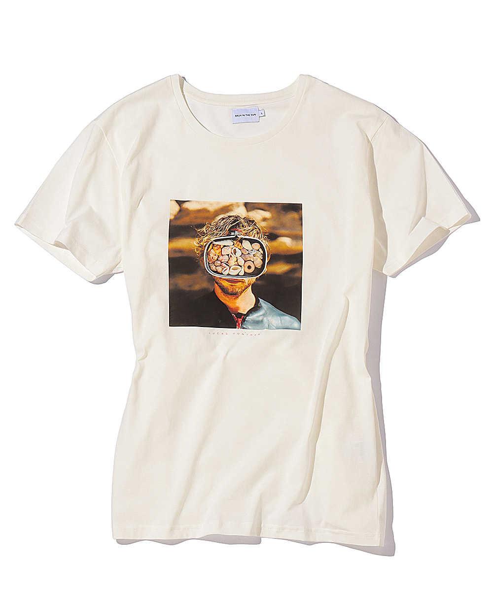 フォトプリントクルーネックTシャツ