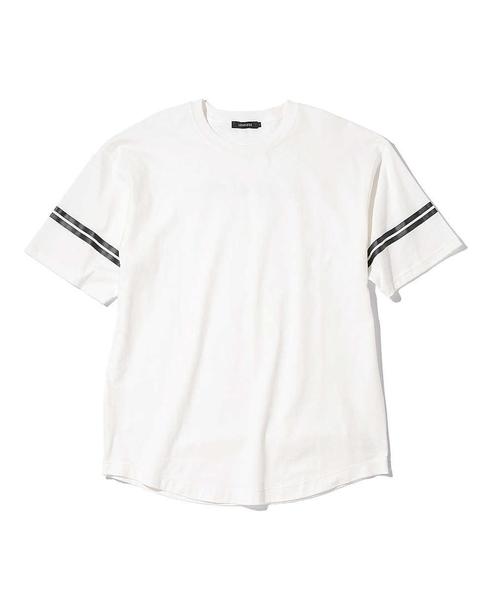 ラウンドバックロゴクルーネックTシャツ