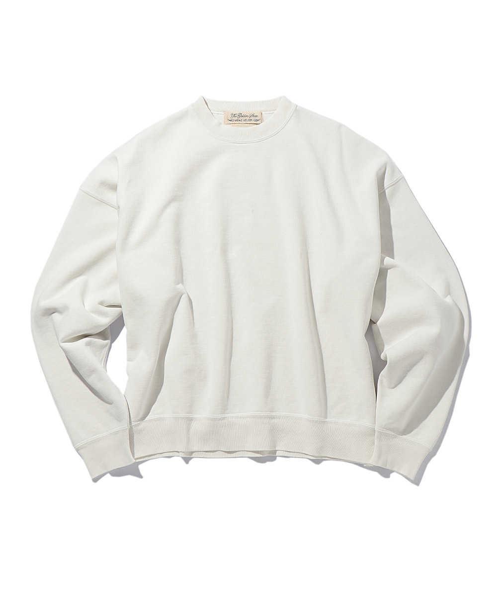 ヴィンテージ加工ワイドスウェットシャツ