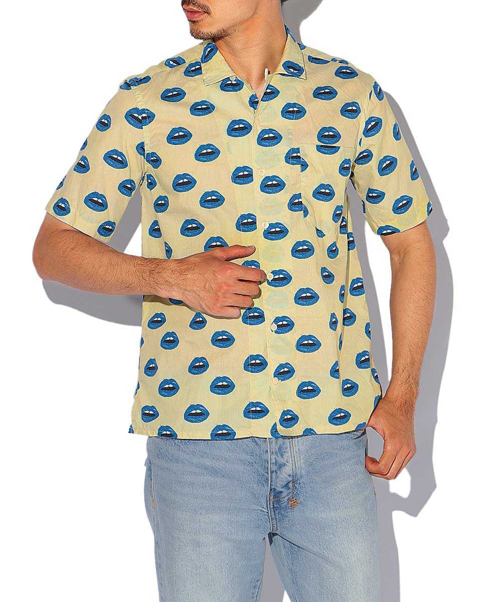 リッププリント半袖シャツ