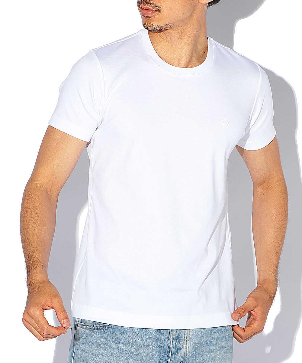 ステッチ刺繡クルーネックTシャツ