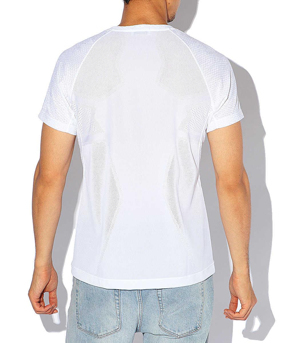 ドットカモフラジャガードクルーネックTシャツ