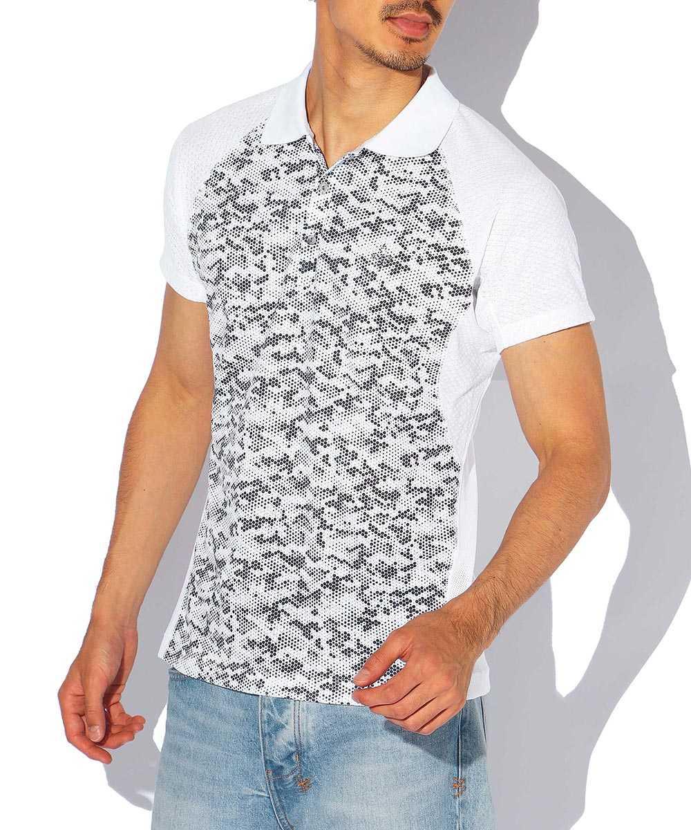 ドットカモフラジャガードポロシャツ