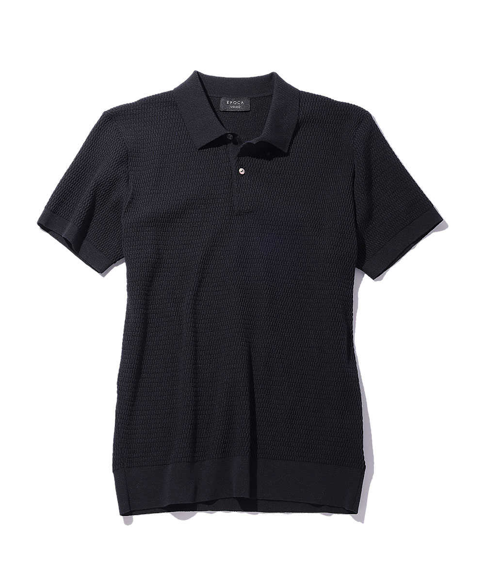 コットンポリエステルニットポロシャツ