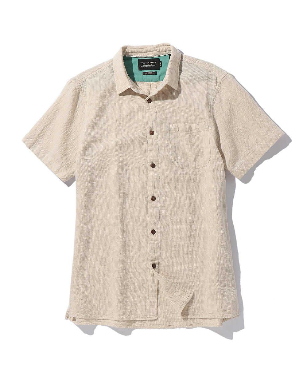 オーガニックコットンブレンドシャツ