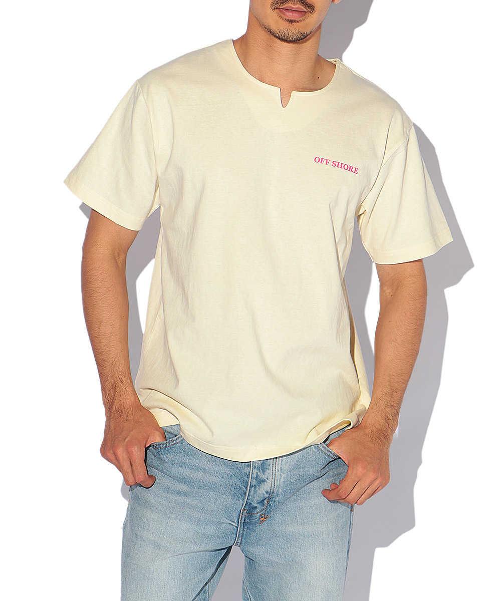 バックプリントフロントカットオフTシャツ