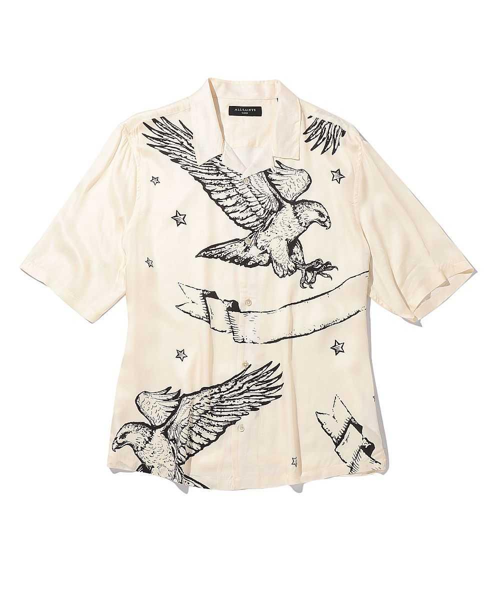 イーグルプリントオープンカラーシャツ