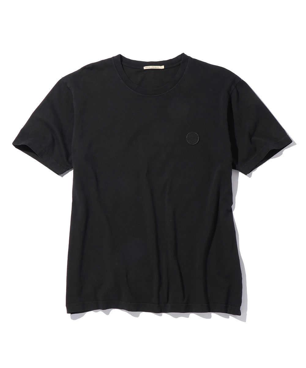 ワンポイントサークルロゴクルーネックTシャツ