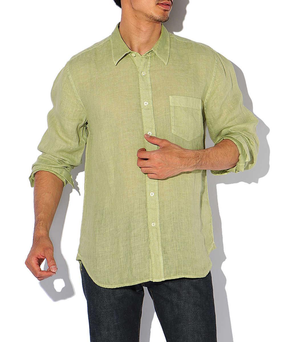 【限定商品】フェード加工リネンシャツ