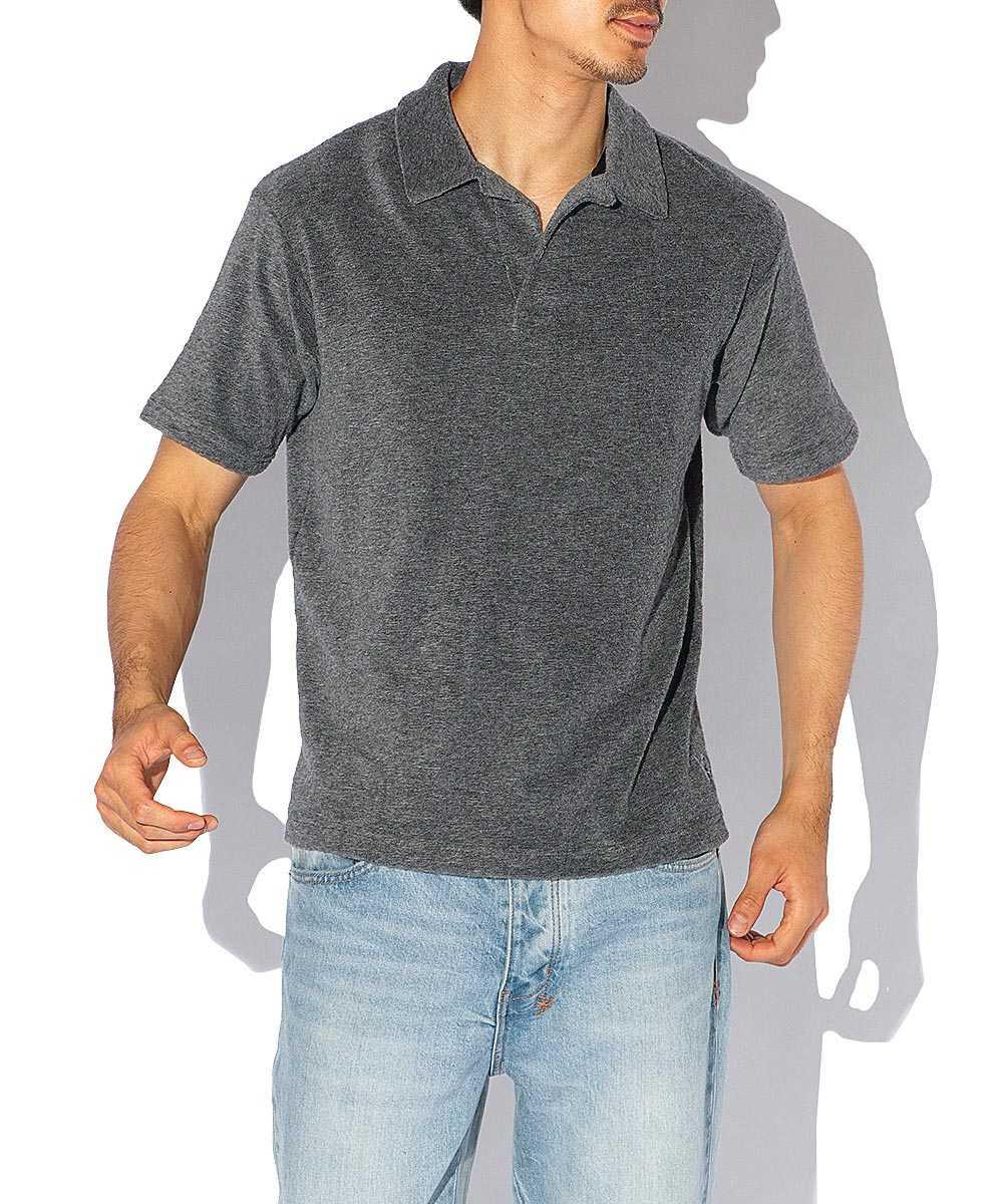 【限定販売】スキッパーパイルポロシャツ