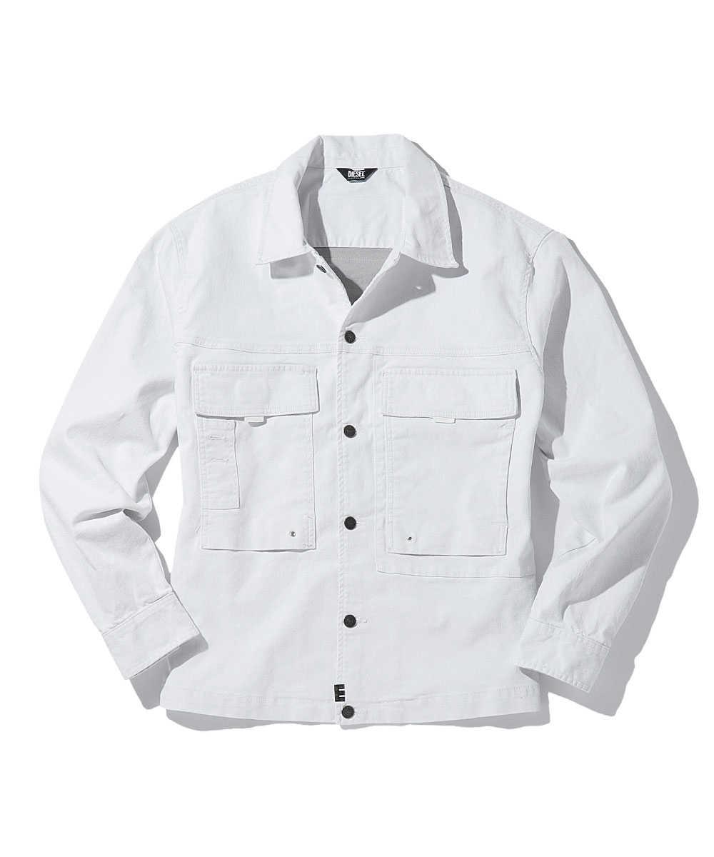 ホワイトデニムシャツジャケット