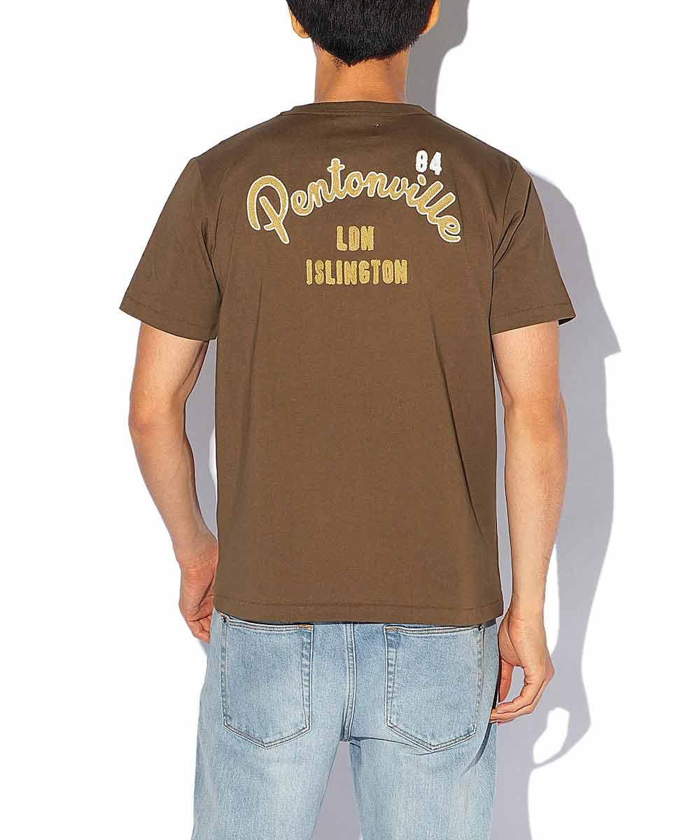UKエンブロイダリークルーネックTシャツ