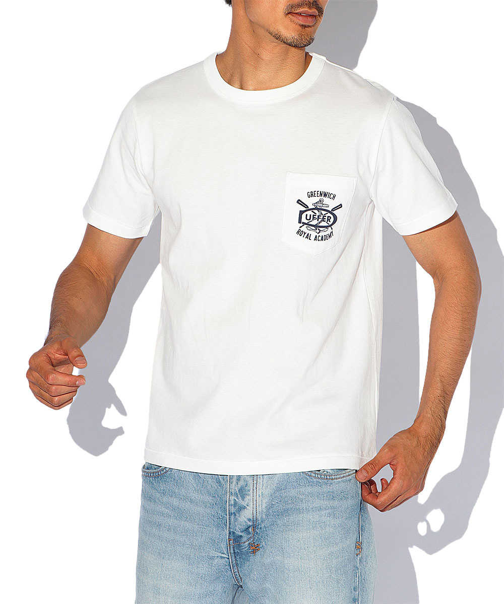 UKカレッジクルーネックポケットTシャツ