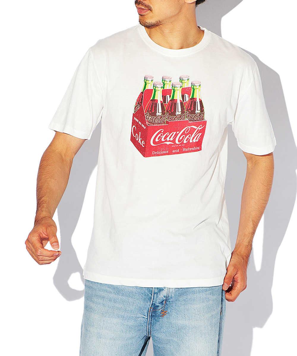 ドリンクカンパニープリントクルーネックTシャツ