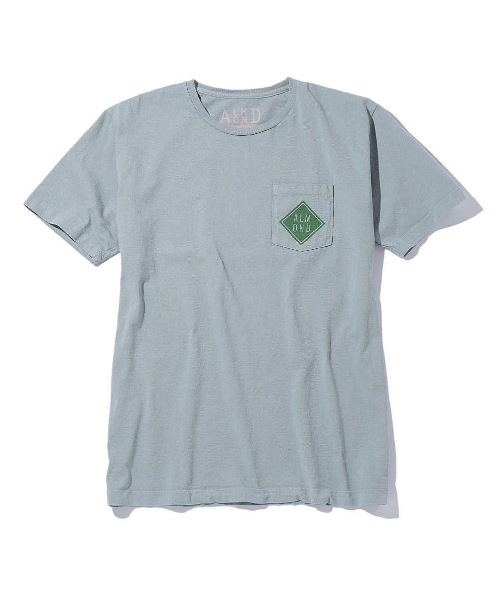 ダイヤモンドロゴポケットクルーネックTシャツ